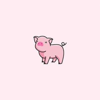Vetor de porco bonito