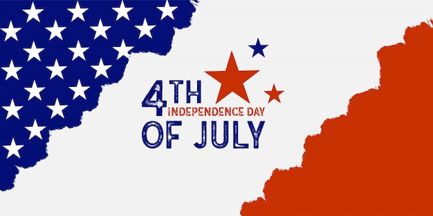 Vetor de prémio de bandeira americana dia da independência