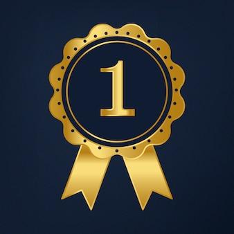 Vetor de prêmio de fita primeiro prêmio