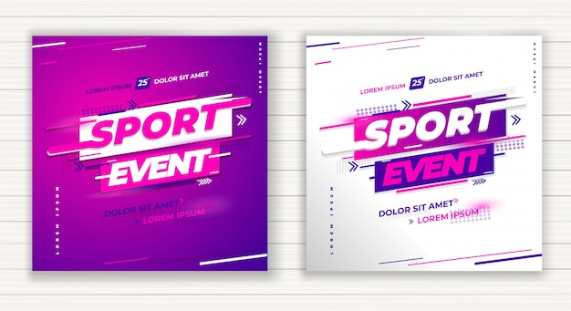 Vetor de projeto de evento esportivo, ano anual, em qualquer local do clube