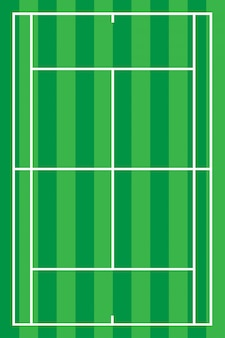 Vetor de quadra de tênis