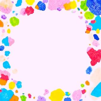 Vetor de quadro colorido com arte em giz de cera derretido