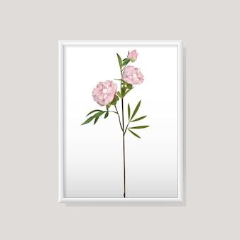 Vetor de quadro de flor