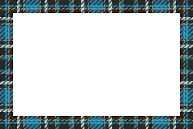 Vetor de quadro vintage. estilo retro do padrão de fronteira escocesa. fundo vazio de beleza, modelo para foto, retrato, álbum. ornamento de xadrez tartan.