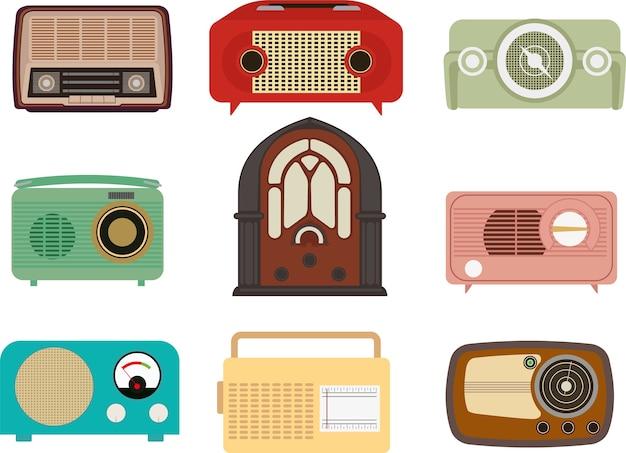Vetor de rádio vintage