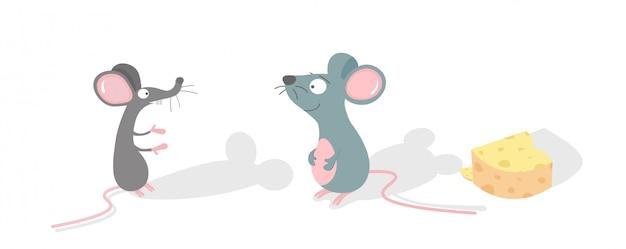 Vetor de ratos fofos