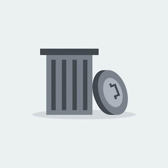 Vetor de reciclagem de lixo moderno