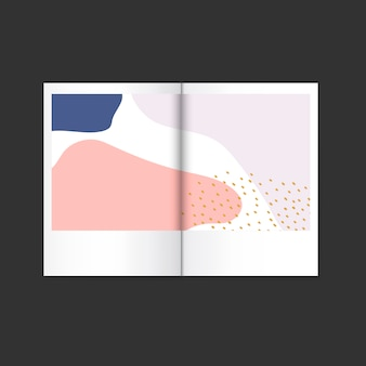 Vetor de revista de design colorido memphis