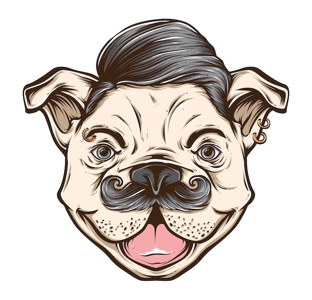 Vetor de rockabilly de cão