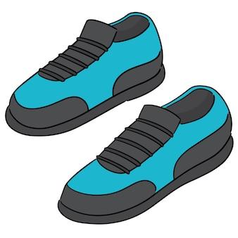 Vetor de sapatos