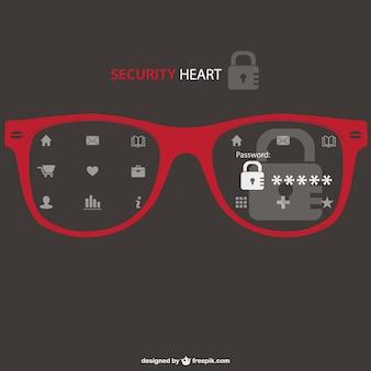 Vetor de segurança conceito ilustração