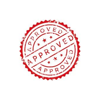 Vetor de selo aprovado