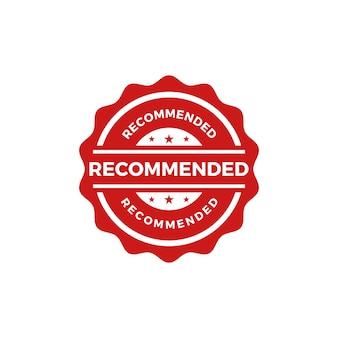 Vetor de selo de selo recomendado