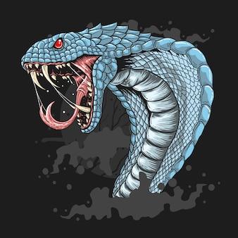 Vetor de serpente cobra