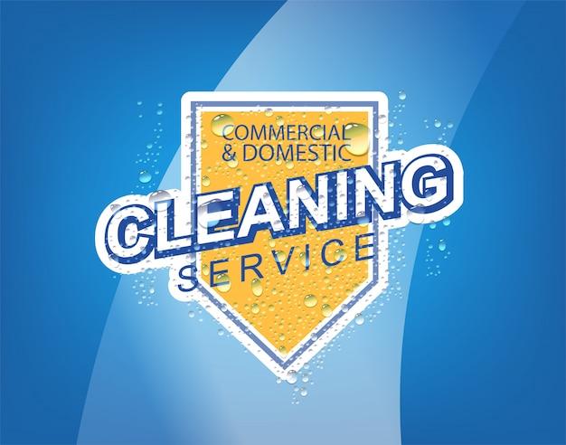 Vetor de serviço de limpeza
