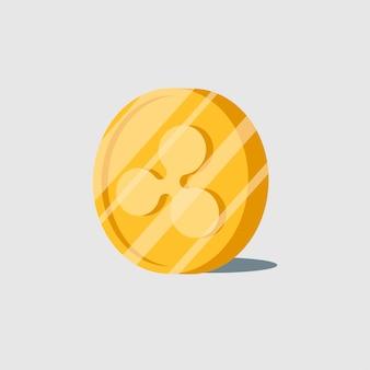 Vetor de símbolo de dinheiro eletrônico de criptomoeda de ondulação