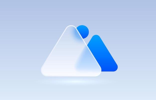 Vetor de sinal de coleção de ícone transparente de imagem de arquivo de vidro