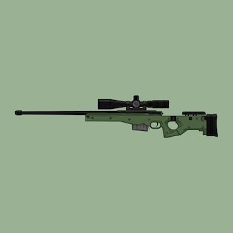 Vetor de sniper awm