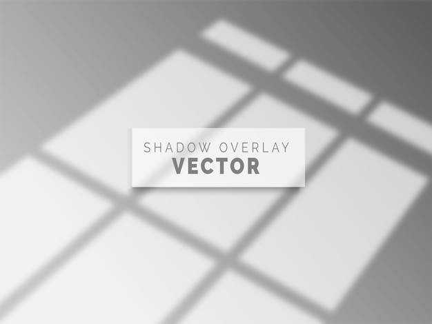 Vetor de sobreposição de sombra realista em parede limpa