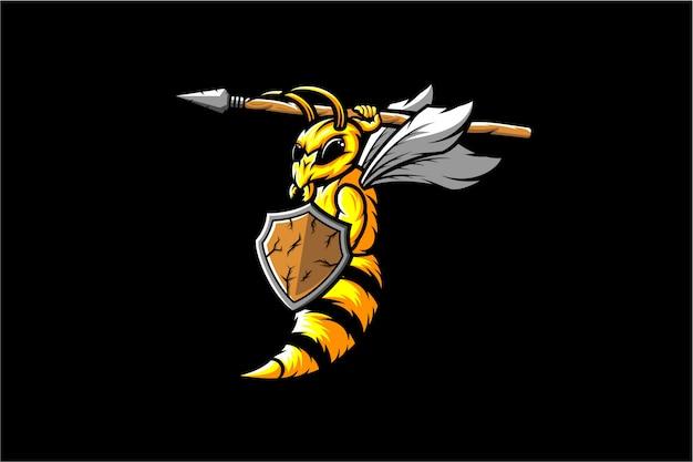 Vetor de soldado de vespa