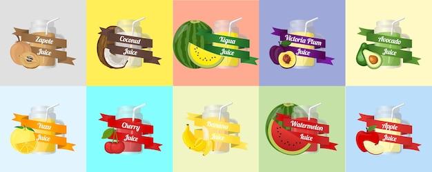 Vetor de suco de fruta
