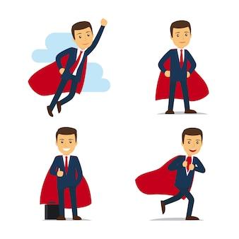 Vetor de super-herói de empresário