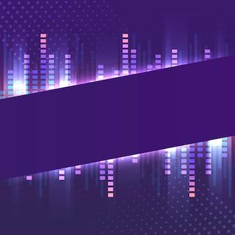 Vetor de tabuleta de néon violeta banner em branco