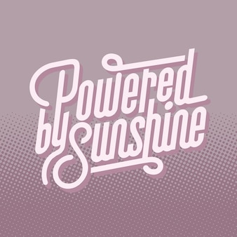 Vetor de tipografia de texto de sol alimentado