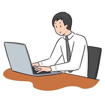 Vetor de trabalhador de escritório