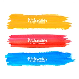 Vetor de traços coloridos aquarela abstrata