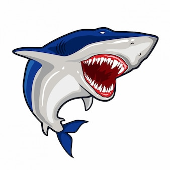 Vetor de tubarão azul