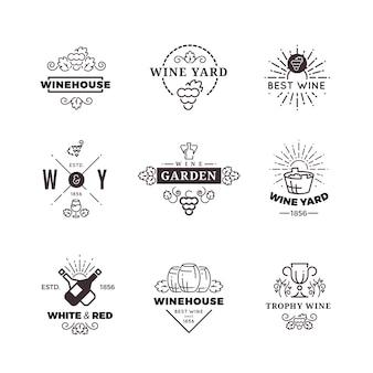 Vetor de uva de fazer vinho hipster