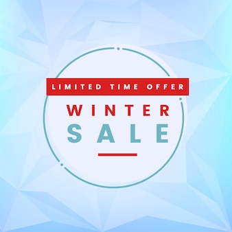Vetor de venda de inverno de oferta por tempo limitado