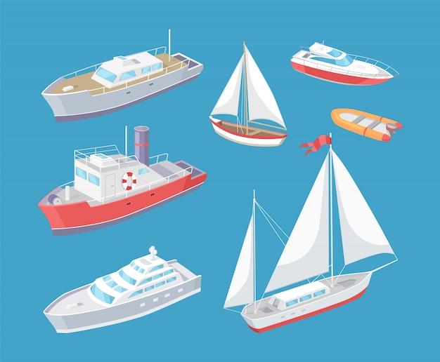 Vetor de viagem de navio de transporte de água