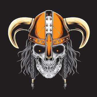 Vetor de viking barbudo