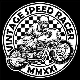 Vetor de vintage cafe racer motocicleta digna