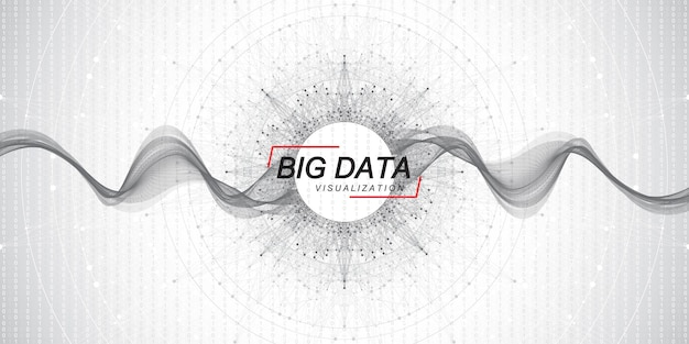Vetor de visualização de algoritmos de aprendizado de máquina de big data
