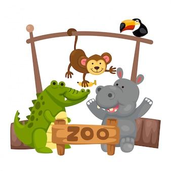Vetor de zoológico animal