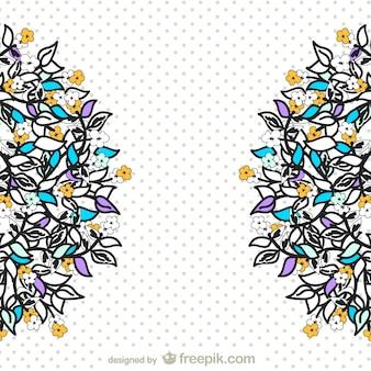 Vetor decorativo desenho floral
