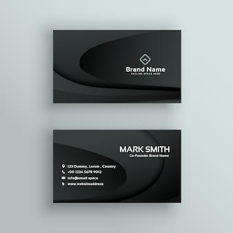 Vetor design de cartão de visita escuro