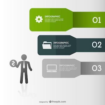 Vetor disposição infografia livre