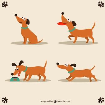 Vetor do cão design bonito caráter