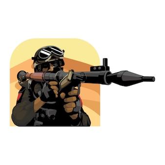 Vetor do exército do deserto