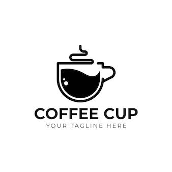 Vetor do ícone do logotipo do café xícara de café