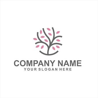 Vetor do logotipo da árvore da beleza