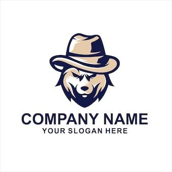 Vetor do logotipo da cabeça de lobo