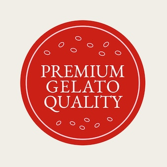 Vetor do logotipo da empresa gelato na cor vermelha