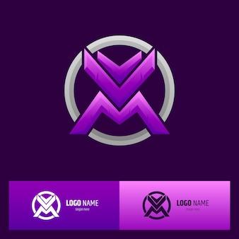 Vetor do logotipo da letra inicial x