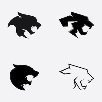 Vetor do logotipo da panther em um fundo branco