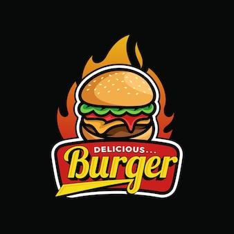 Vetor do logotipo do burger art design